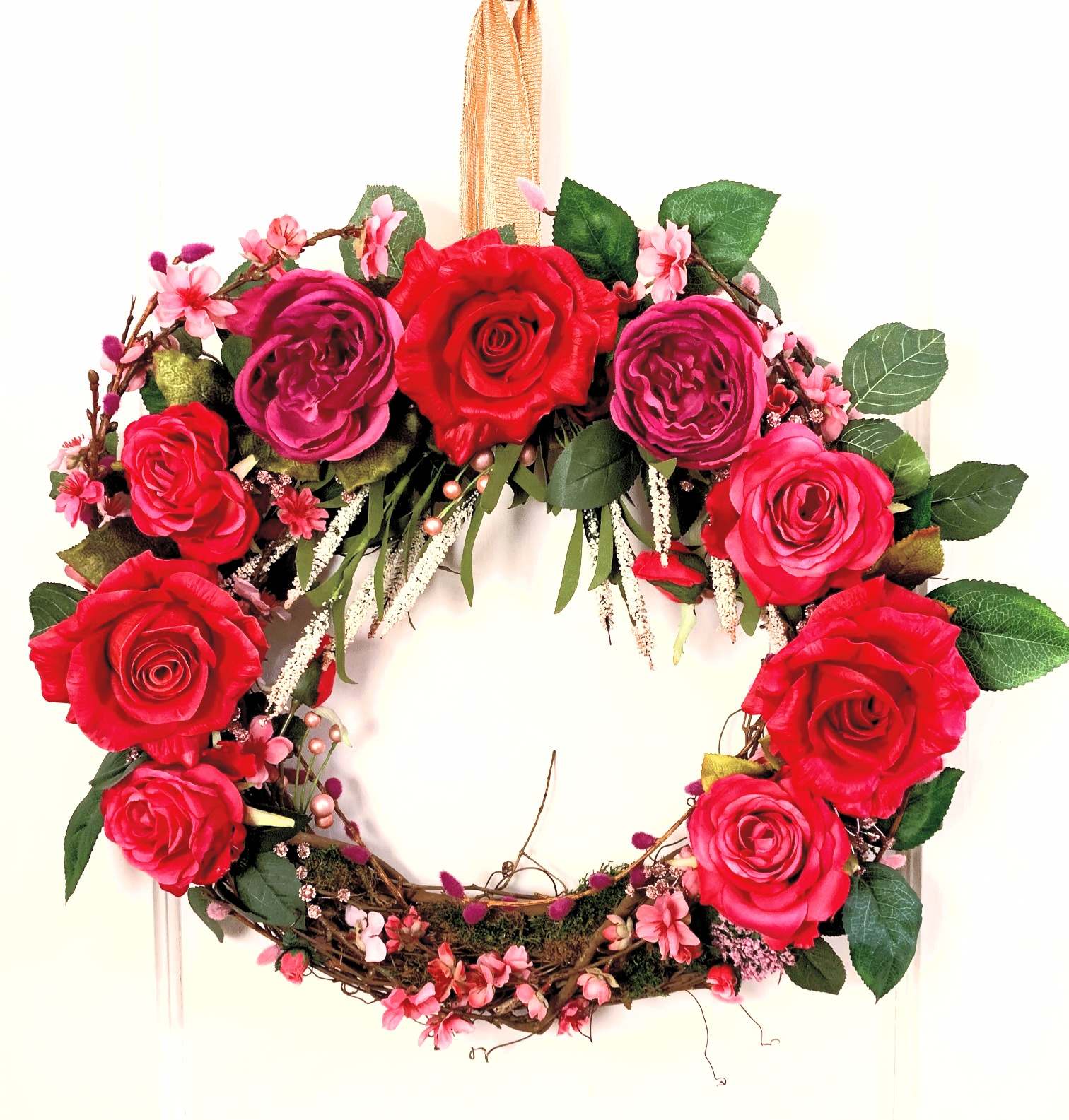 Pink Rose Wreath