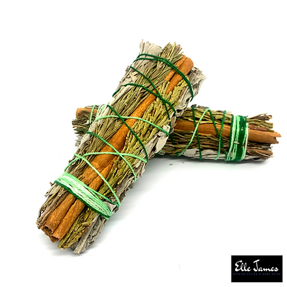 Cinnamon, White Sage, Cedar & Rosemary stick