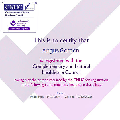Angus Gordon CNHC registered