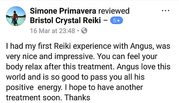 Angus Bristol Crystal Reiki