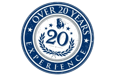 over 20 years experiece badge