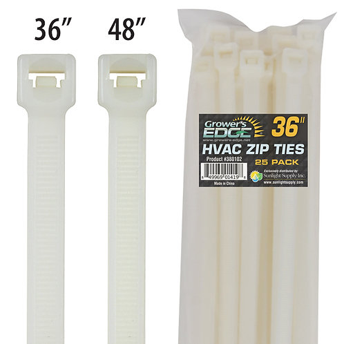 Grower's Edge 48 in HVAC Cable Tie (25/Pack) (1ea= 25/Pack)