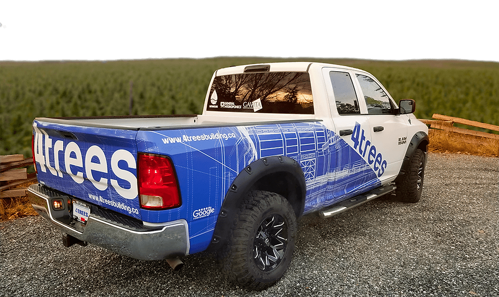 work truck with company decals