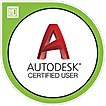 Autodesk certified user badge