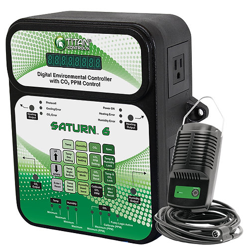 Titan Controls® Saturn® 6 - Digital Environmental Controller with CO2 PPM Contro