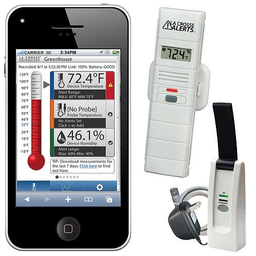 La Crosse Alerts Remote Temperature and Humidity Monitoring System