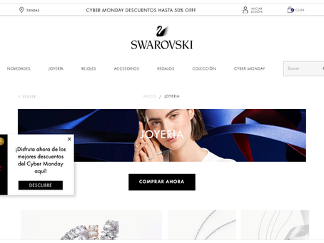 海外導入事例:Swarovski Argentina and Swarovski Chile WEB接客 事例