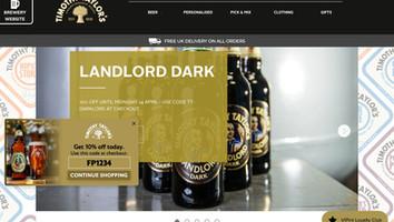 海外EC導入事例:WEB接客 食品業界 事例 timothytaylorshop.co.uk