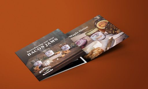 Bacon Jams Tri-fold Brochure - Mrs. Miller's Jams & Jellies