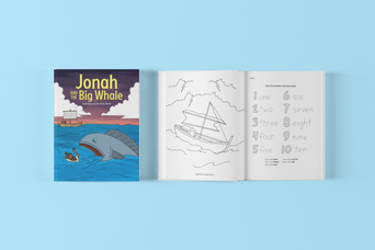 Jonah and the Big Whale Coloring Book - LeRu Publishers