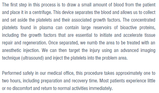 How platelet-rich plasma is extracted