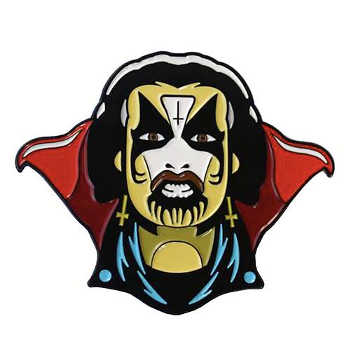 King Diamon face pin