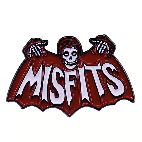 """The Misfits """"Chrimson Ghost Batwings"""" pin"""