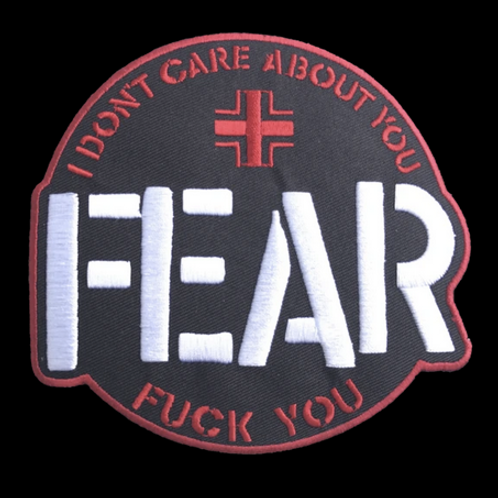 "FEAR ""I Don't Care About You"" patch"