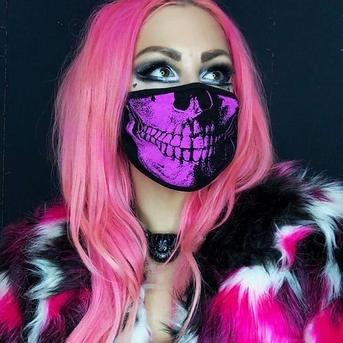 Skull Death Pink Face Mask