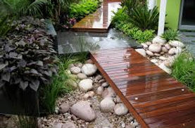Deck and landscaping construction