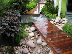Deck and Landscaping