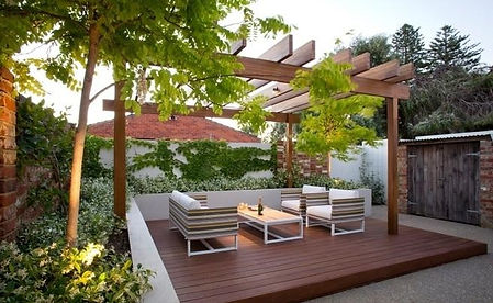 Deck and pergola construction