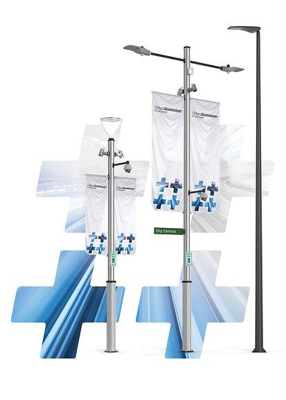 multi-function light pole wi-fi cctv security pedestrian smart city