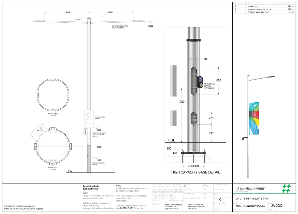2. UA City Multi Function Pole 9m to 12m