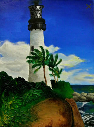Lighthouse, Oils 18x24 in