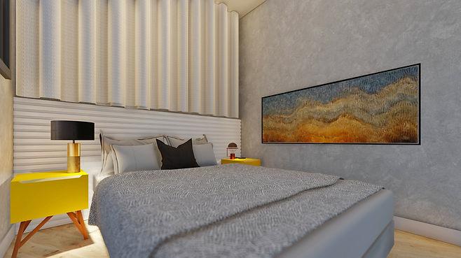 projeto de um quarto de casal pequeno