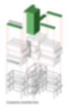 Esquema construtivo - Edifício Containers