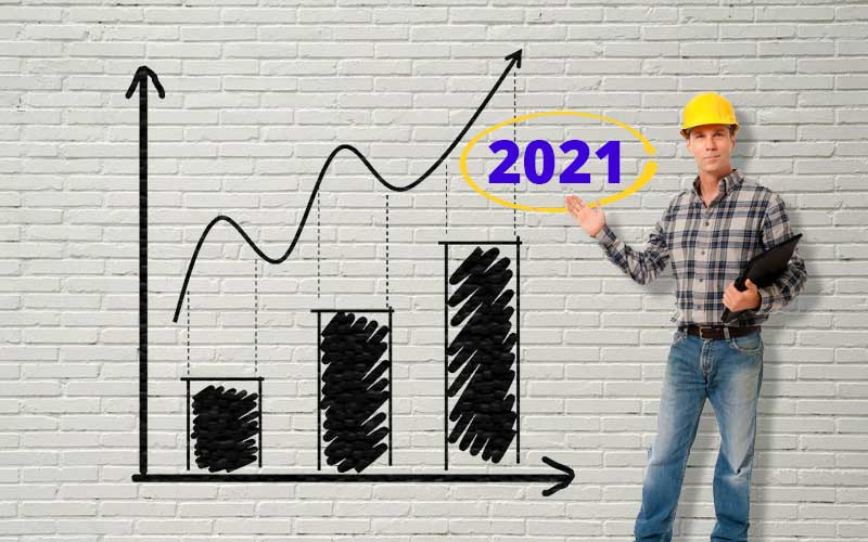 Mercado da Construção Civil 2021 prevê retomada e aquecimento.
