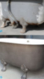 Baignoire ancienne grenaillage