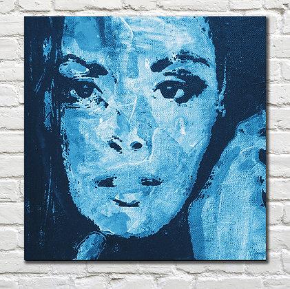 Fresco Custom Portrait: Sky Blue Palette from $490