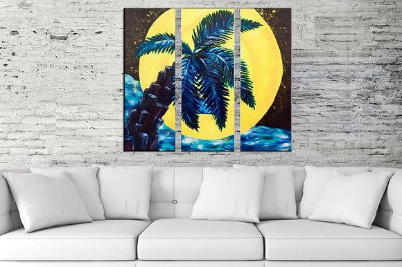 """Palm Moon"" Premium Quality Giclee Print"