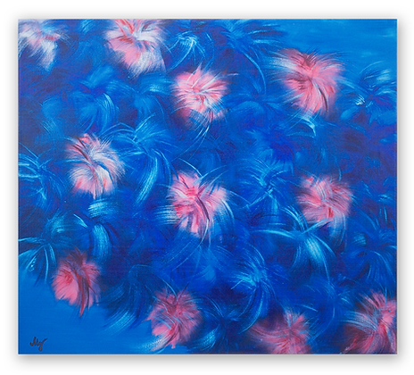 """Fluffy Flowers"" Original Oil Painting"