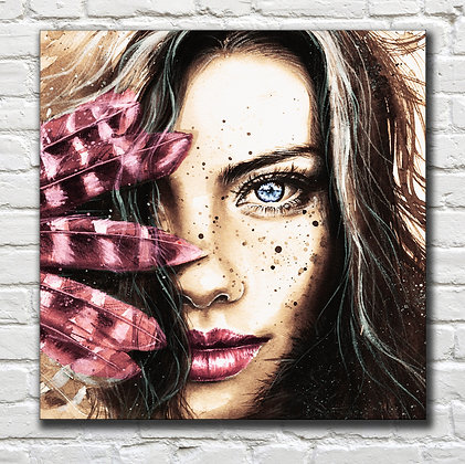 Feather Custom Portrait: Magenta Palette from $490