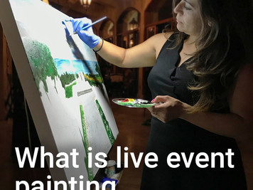 What is live event painting