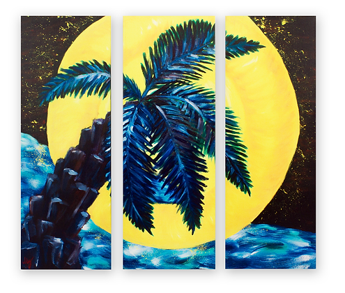"""Palm Moon"" Original Oil Painting"