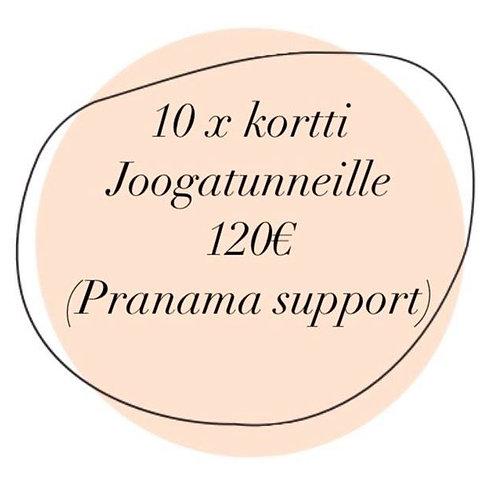 10-kortti / Pranama Support