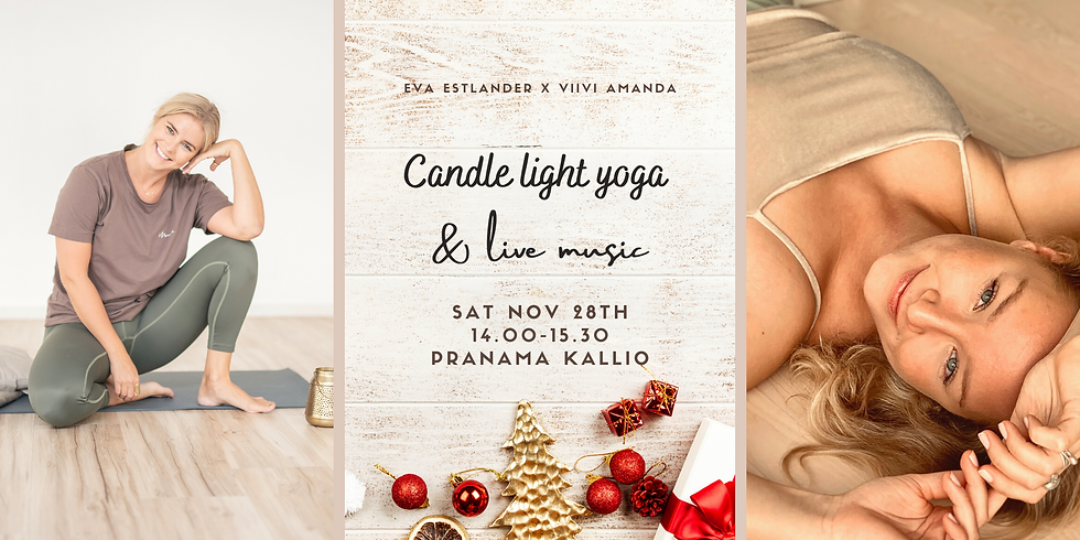 Candle light yoga & live music