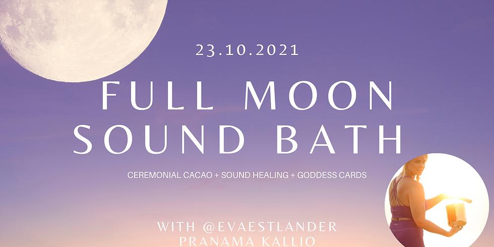 Full Moon Sound Bath + Cacao Ceremony