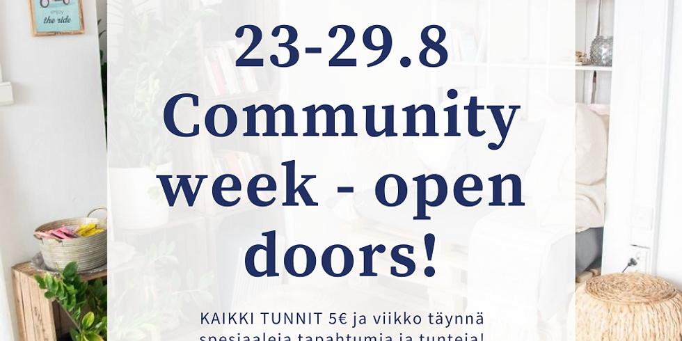 Community week returns! Open doors!