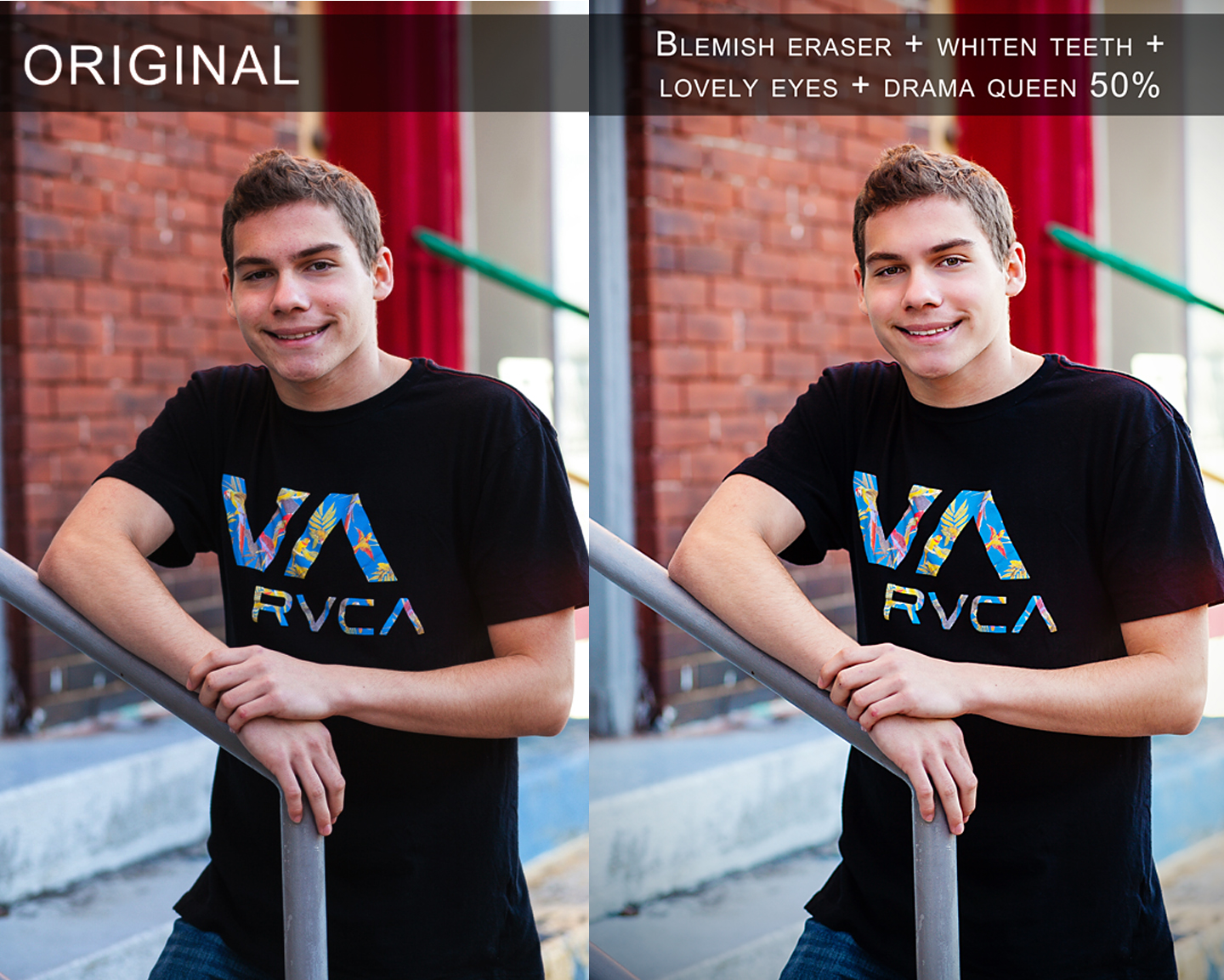 Before and After PBT retouch actions