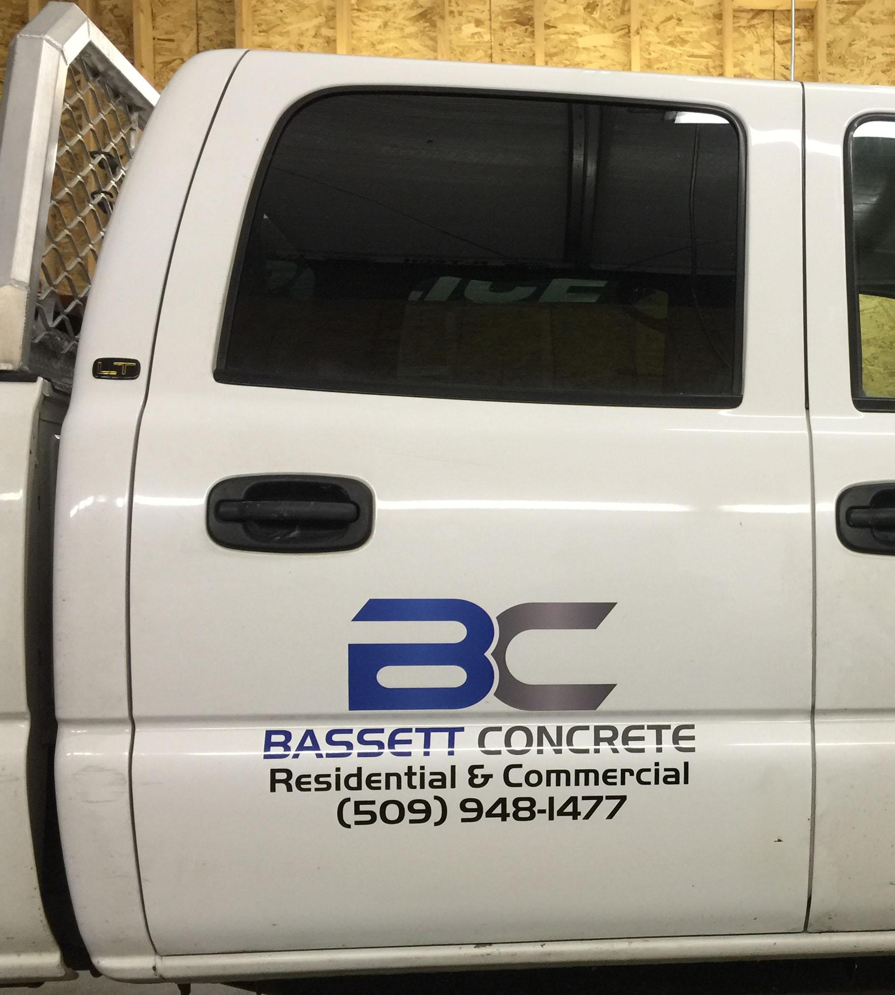 Bassett Concrete white truck.JPG