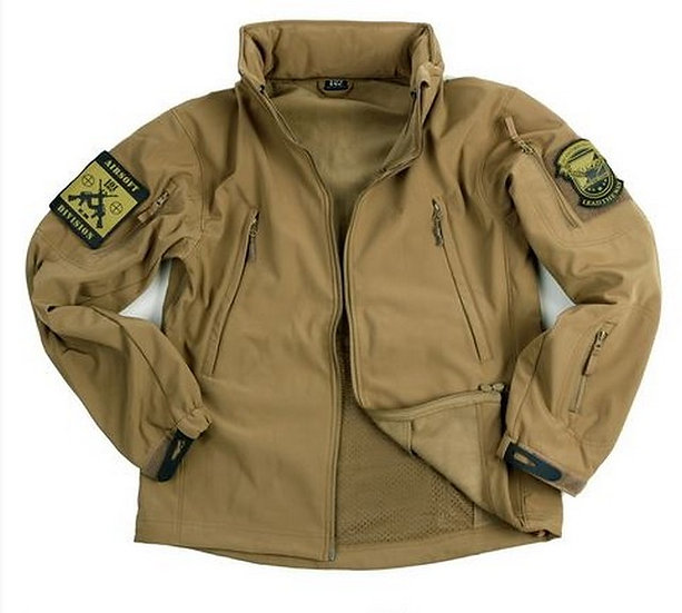 101 INC. SOFT SHELL COMBAT JACKET TAN