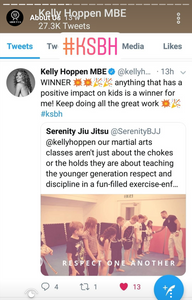 The winning #KSBH tweet