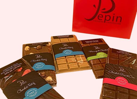 Box 5 tablettes chocolat
