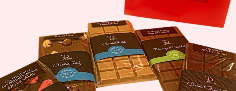 Box - 5 tablettes chocolat