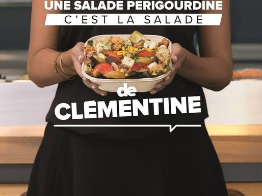 Ceci n'est pas une salade périgourdine, c'est la salade de Clémentine !!