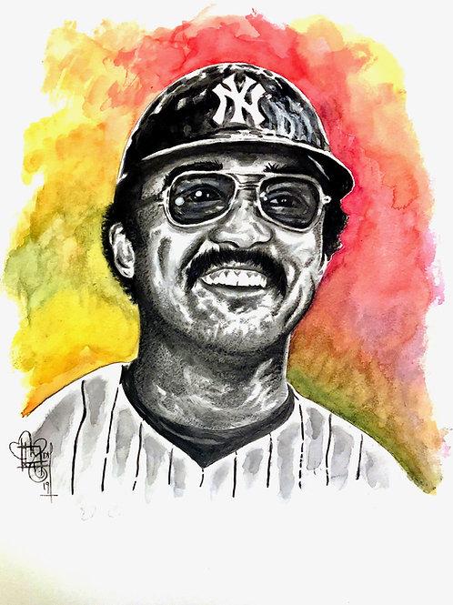 Reggie Jackson Watercolor Portait