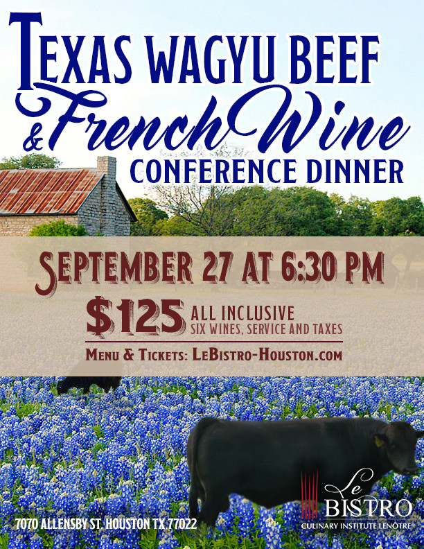Texas Wagyu Beef & French Wine Conference Dinner