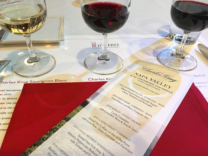 A night out with the wines of Napa's Charles Krug Winery at Le Bistro