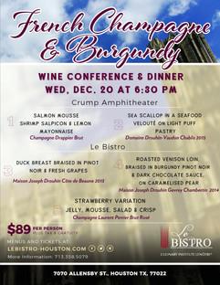 Champagne & Burgundy Wine dinner MENU -